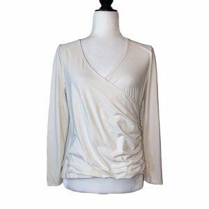 Lululemon White Wrap Long Sleeve Top
